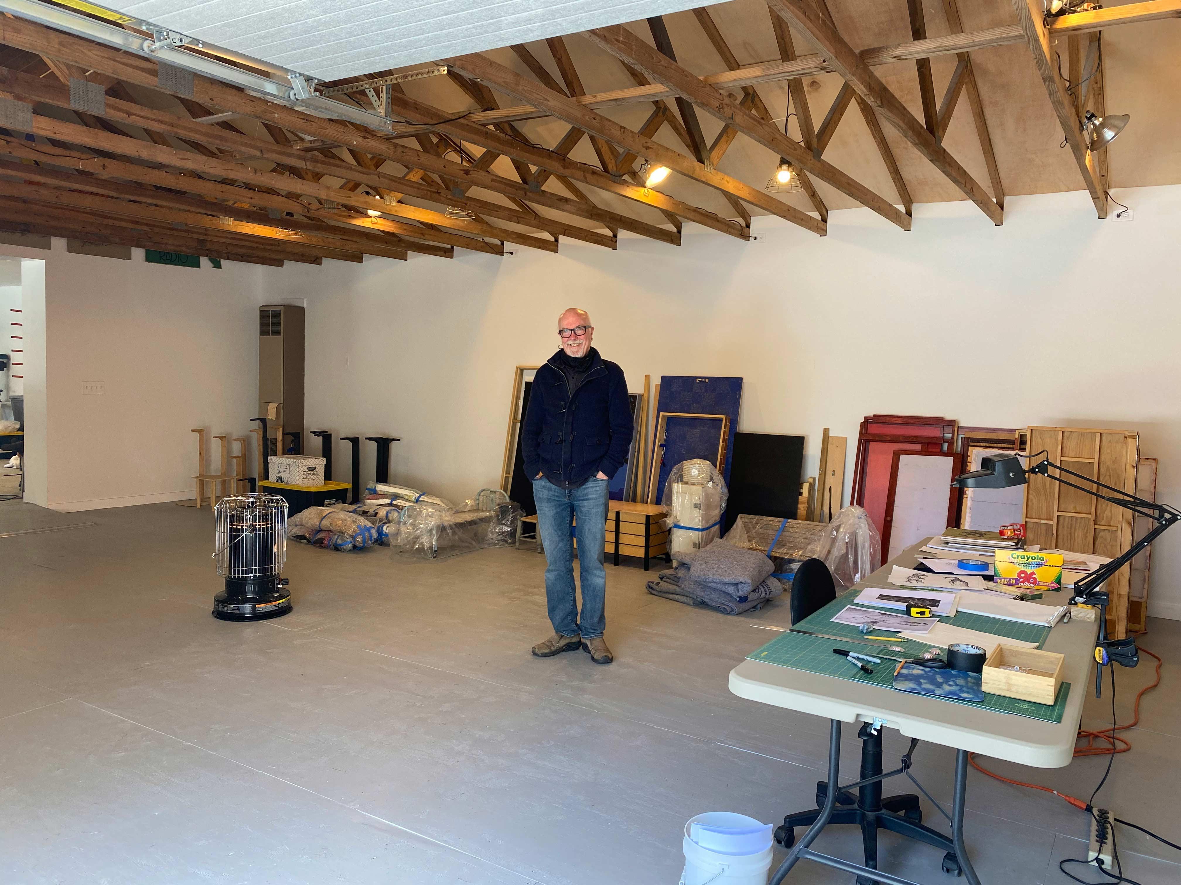 Dan Hurlin in his studio