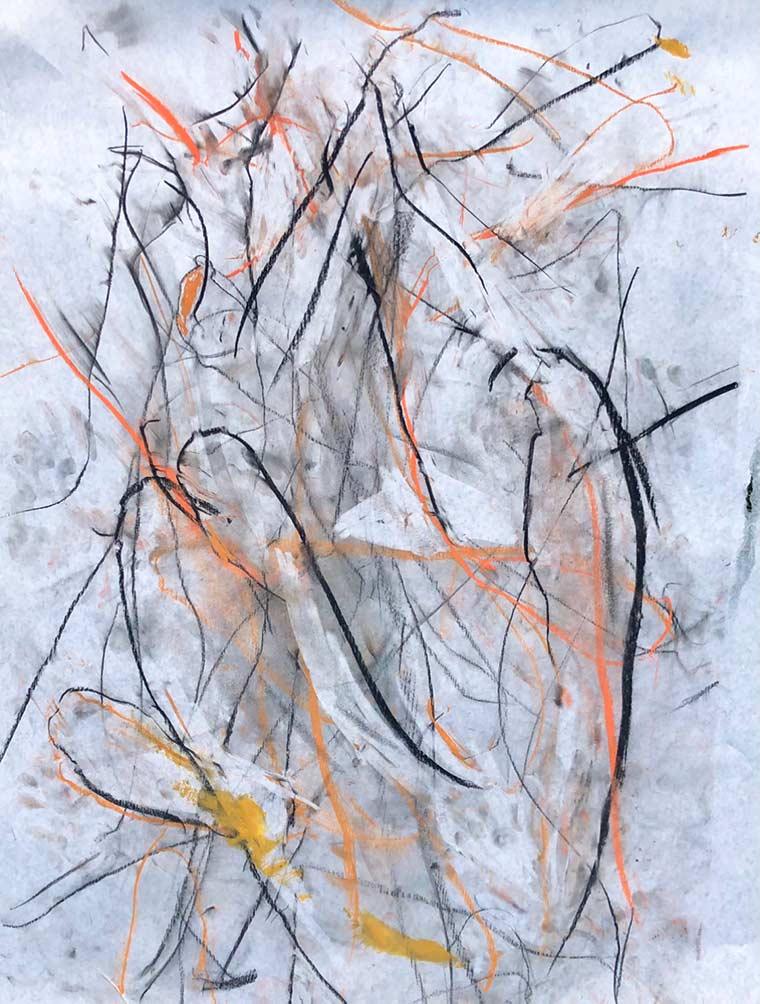Doberenz charcoal and chalk pastel artwork