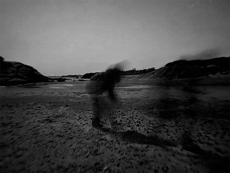 Black and white landscape photograph